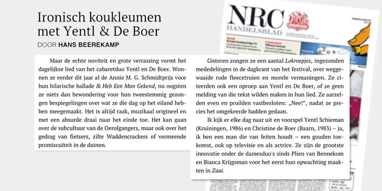 Hans Beerekamp - Zap in NRC 19 Juni 2015